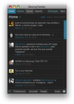 Destroy Twitter, el enésimo cliente de twitter hecho con AIR