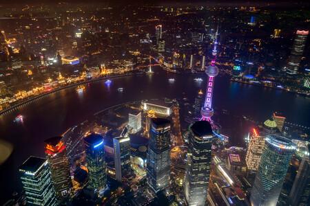 Vista panorámica de las alturas de Shanghai.