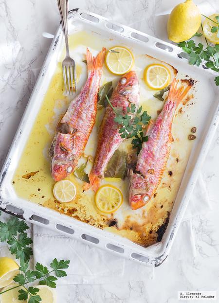 Salmonetes al horno: receta