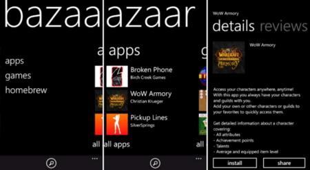 Bazaar, la alternativa a Windows Marketplace