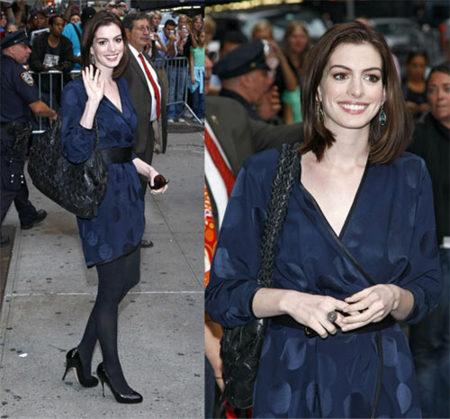 Anne Hathaway en el Show de David Letterman