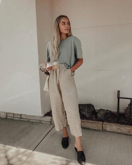 cómo combinar un pantalon de lino