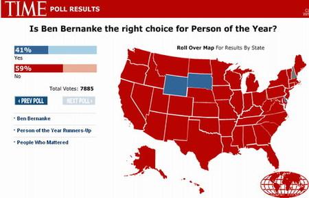 ¿Es Ben Bernanke el hombre del año? No: 59%