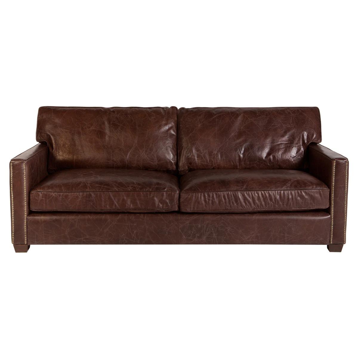 Sofá de piel de 3 plazas Bristol