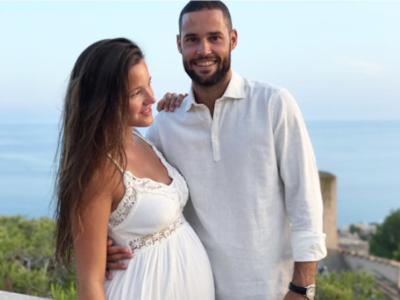 Nos encanta el look de novia embarazada de Malena Costa, aunque ella no supiera que iba a casarse