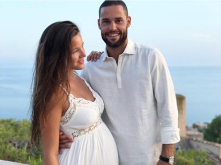 Precioso el look de novia embarazada de Malena Costa, aunque ella no supiera que iba a casarse
