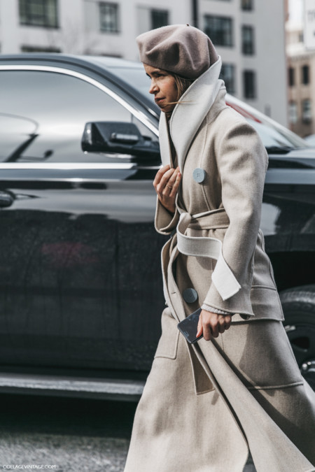 El streetstyle de la Semana de la Moda de Nueva York se protege del frío con abrigos de impacto