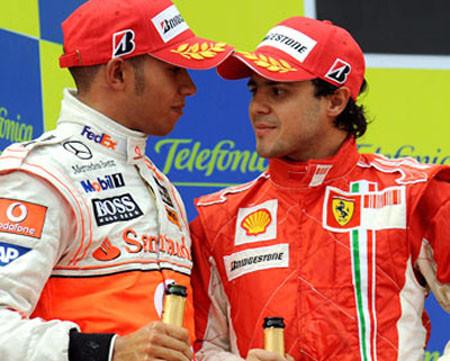 Los números de Hamilton y Massa para ser campeones en Brasil