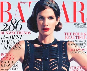 ¿Estamos seguros que es Cindy Crawford la de la portada de Harper's Bazaar?