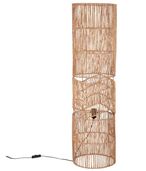Lámpara de lectura de yute trenzado