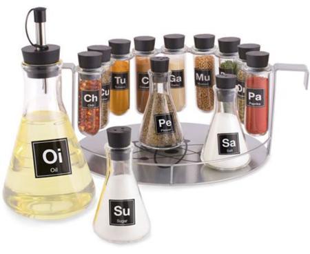 Si te gusta la química, te encantará este rack para especias