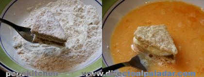 mozzarella rebozada paso