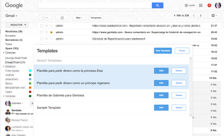 Crea y personaliza plantillas para Gmail que siempre están en tu bandeja de entrada