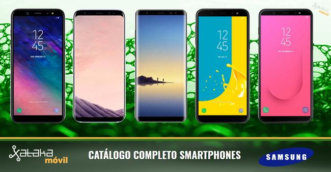 Así queda el catálogo completo de smartphones Samsung Galaxy en sus gamas S, A y J de 2018