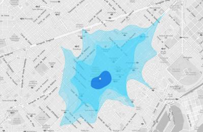 Isoscope: ¿A dónde puedes llegar conduciendo en cinco minutos desde aquí?
