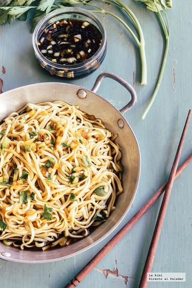 Noodles asiáticos. Receta rápida