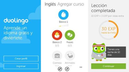 Duolingo lanza su aplicación para aprender idiomas en Windows Phone