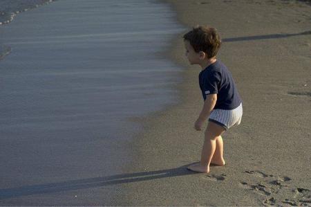 La foto de tu bebé: Miguel disfrutando de la playa
