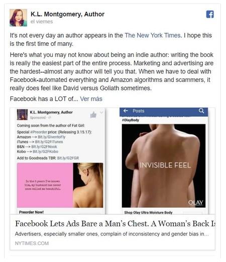 Publicacion Facebook Kl Montgomery Author