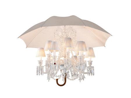 Lámpara de techo Baccarat inspirada en Mary Poppins, diseño Philippe Starck