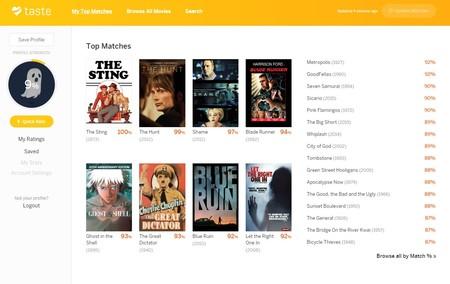 Una web te recomienda las películas que encajan con tus gustos