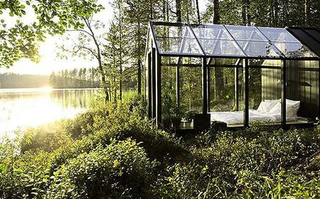 Cabaña invernadero para disfrutar de las noches junto al lago