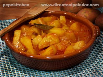 Patatas castellanas. Receta tradicional