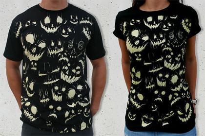 Camisetas terroríficas: Luces en la oscuridad
