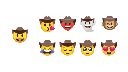 Original Vs New Cowboy Emojis