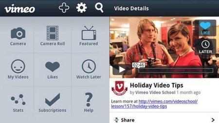 Vimeo lanza aplicaciones para Android y Windows Phone (iPad: pronto)