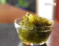 Mermelada de chiles verdes picantes y perón