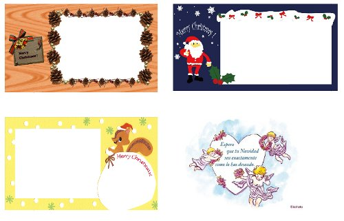 Bonitas tarjetas de navidad para imprimir en la web de canon - Sobre de navidad para imprimir ...