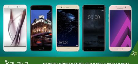 Los mejores móviles entre gama media y gama alta alrededor de 300 euros en 2017