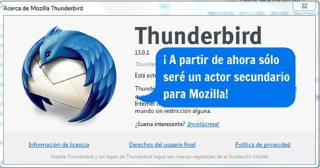 Thunderbird ya no es una prioridad para Mozilla