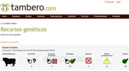Tambero.com, módulo de recursos genéticos