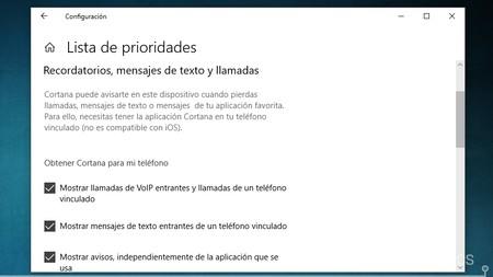Prioridades Cortana