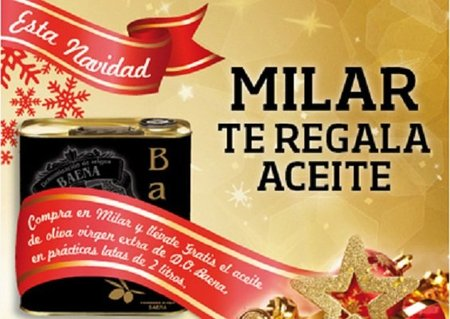 Milar nos regala aceite de oliva por las compras esta navidad