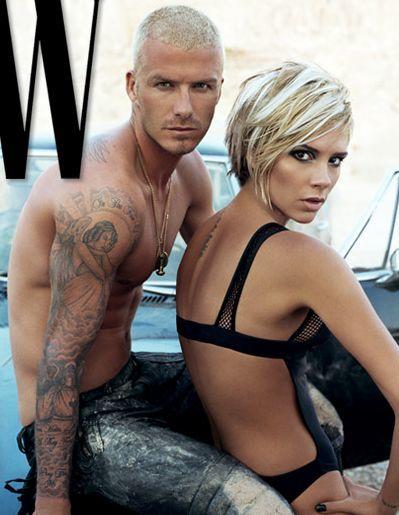 Los Beckham posan en la cama