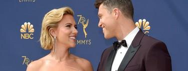 El blanco y este escote de infarto llevan a lo más alto a Scarlett Johansson en los Emmys 2018