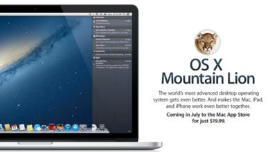 Mountain Lion llegará en julio con Power Nap, Dictados y más integración con Facebook