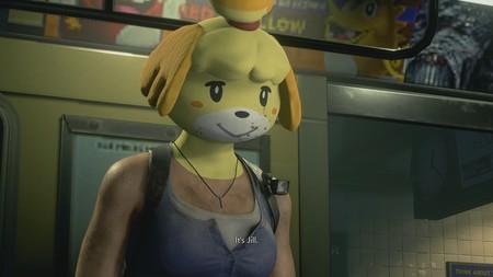 Con este mod de Resident Evil 3 podemos dar un toque más amigable al juego al cambiar la cabeza de Jill por la de Canela, de Animal Crossing