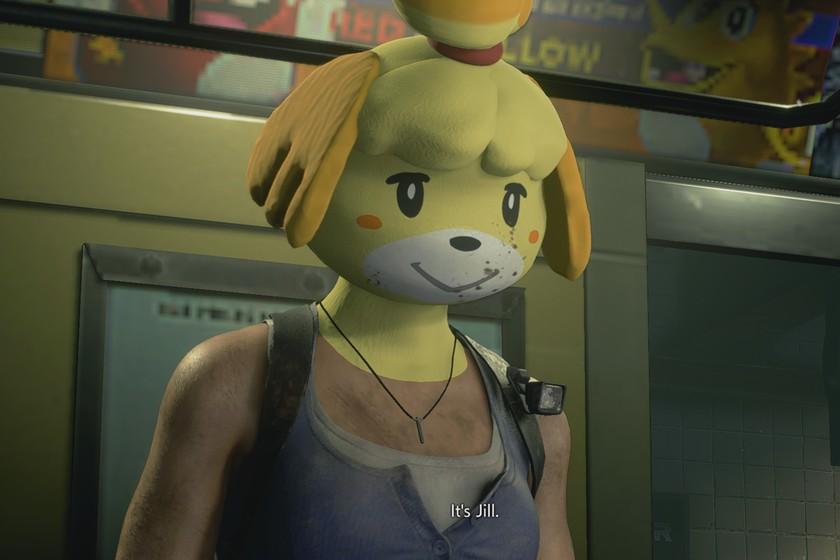 Con este mod de Resident Evil 3 podemos dar un toque más amigable al juego al cambiar la cabeza de Jill por la de Canela, de Animal Crossin