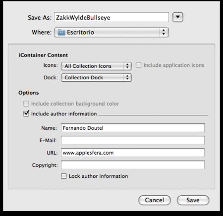 Opciones para guardar un iContainer