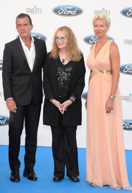 Antonio Bandera, Mia Farrow y Anne Igartiburu