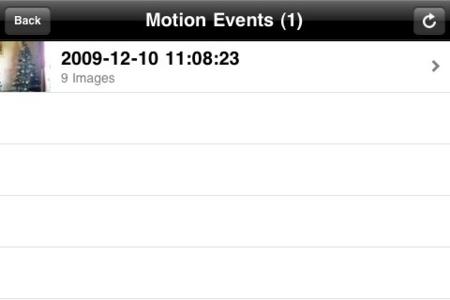 registro de eventos de movimiento