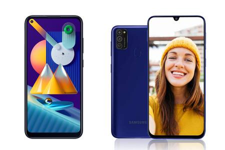 Samsung Galaxy M21 y M11 se dejan ver en imágenes: uno con notch, el otro con perforación en la pantalla