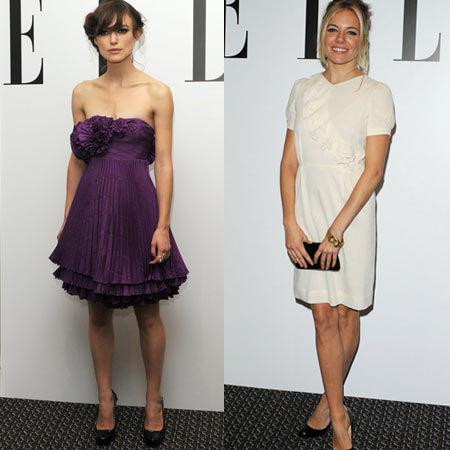 Sienna Miller y Keira Knightley en la fiesta post estreno de Elle