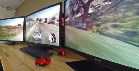 Jugando en tres pantallas con resolución 4k, el sueño de muchos al alcance de pocos