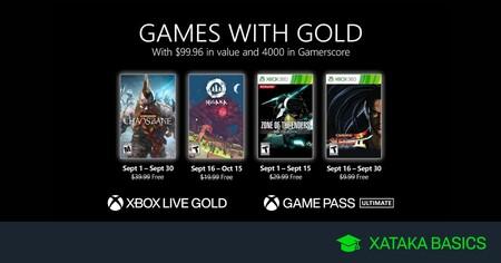 Juegos de Xbox Gold gratis para Xbox One y 360 de septiembre 2021