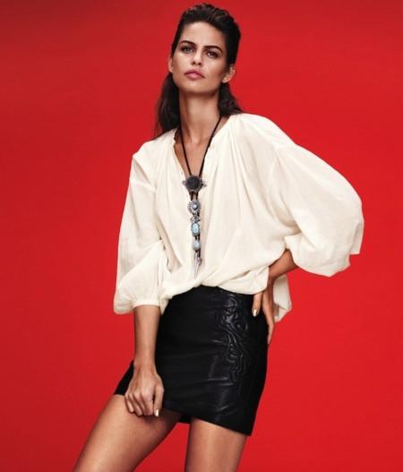 Blanco, negro y rojo. El trío de moda para H&M en su nuevo lookbook abril 2013